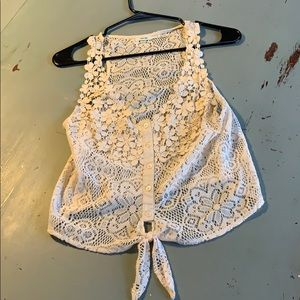 Lace top, urban outfitters